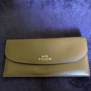 Coach leather long wallet